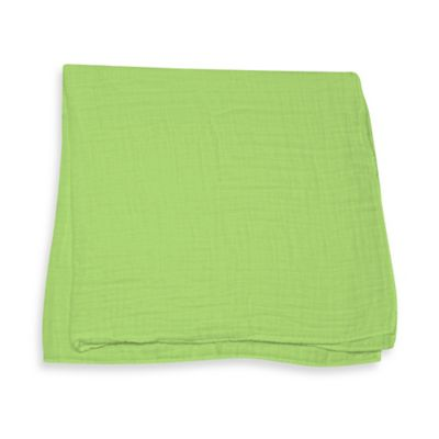 iPlay.® Brights Organic Muslin Swaddle Blanket in Light Lime