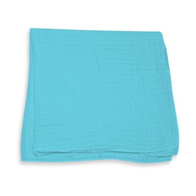 iPlay.® Brights Organic Muslin Swaddle Blanket in Light Aqua