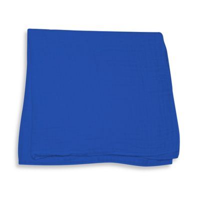 iPlay.® Brights Organic Muslin Swaddle Blanket in Royal Blue