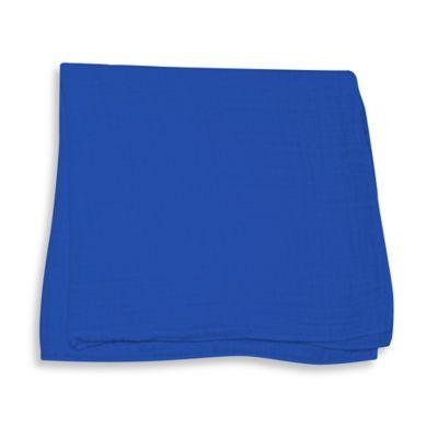 iPlay.® Brights Organic Muslin Swaddle Blanket in Royal Blue