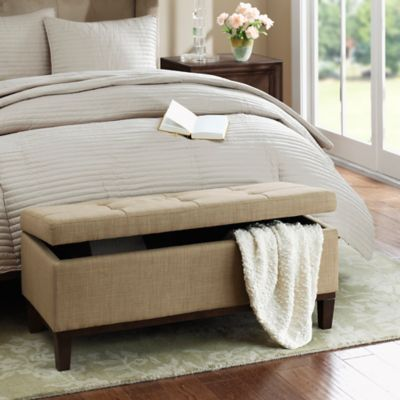 Regency Heights® Amherst Bench Storage Ottoman in Travertine