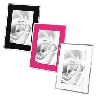 Swing Design™ Mia 5-Inch x 7-Inch Frame in White with Mirror Border