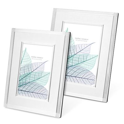 Swing Design™ Deco 4-Inch x 6-Inch Frame in Silver Plate