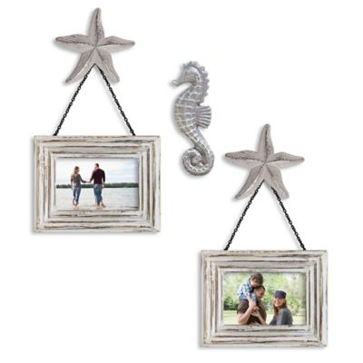 Seahorse 5-Piece Wall Solution Set in Whitewash