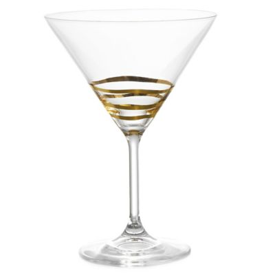 Fitz and Floyd® Martini Glass in Gold Waves (Set of 4)