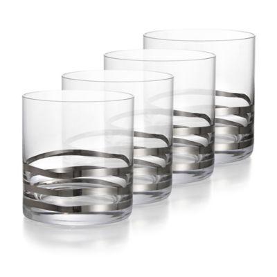 Platinum Waves Cocktail Glasses
