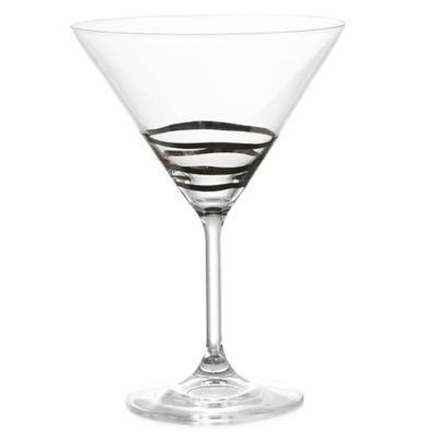 Fitz and Floyd® Martini Glass in Platinum Waves (Set of 4)
