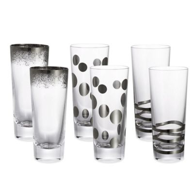 Fitz and Floyd® Platinum Shot Glasses in Assorted Colors (Set of 6)