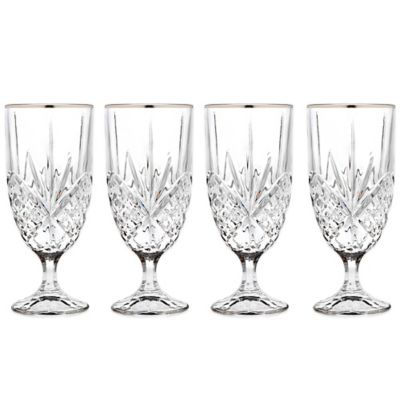 Godinger Platinum 14 oz. Iced Beverage Glasses (Set of 4)