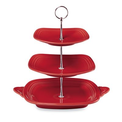 Fiesta® 3-Tier Server in Scarlet