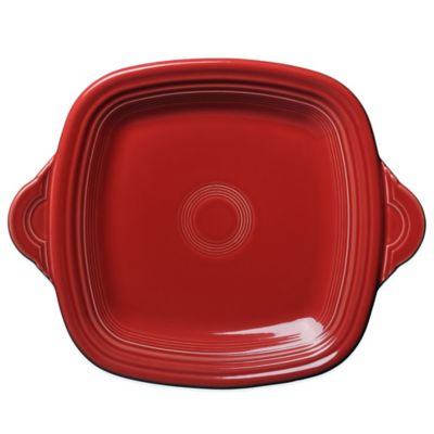 Fiesta® Square Handled Serving Tray in Scarlet