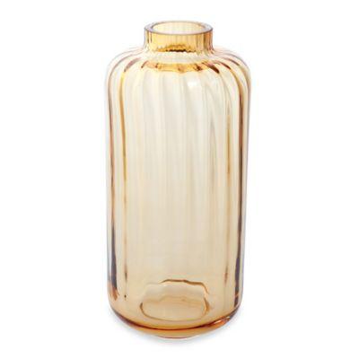 Dartington Crystal Gems Ball Vase in Amber