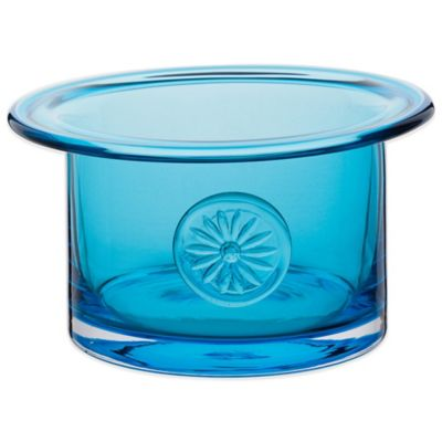 Dartington Crystal Flower Bowl in Daisy Turquoise