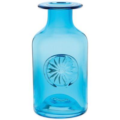 Dartington Crystal Medium Flower Bottle in Daisy Turquoise