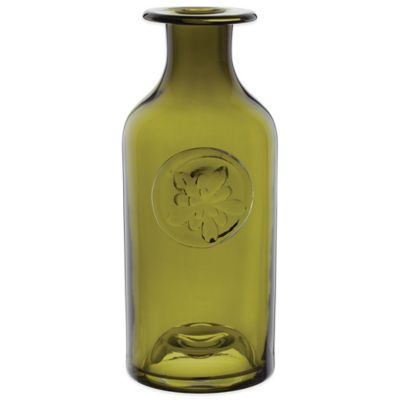Dartington Crystal Medium Flower Bottle in Aquilegia Green