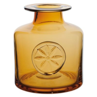 Dartington Crystal Medium Flower Bottle in Clematis Amber
