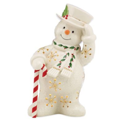 Lenox® Happy Holly Days Lit Snowman Figurine