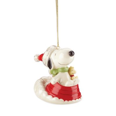 Lenox® Sledding with Snoopy Ornament