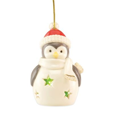 Lenox® Pierced Lit Penguin Ornament