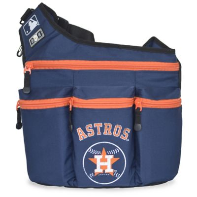 Diaper Dude® MLB Houston Astros Messenger Diaper Bag in Navy