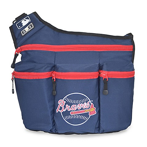 dad diaper bags diaper dude mlb atlanta braves messenger diaper bag in navy from buy buy baby. Black Bedroom Furniture Sets. Home Design Ideas