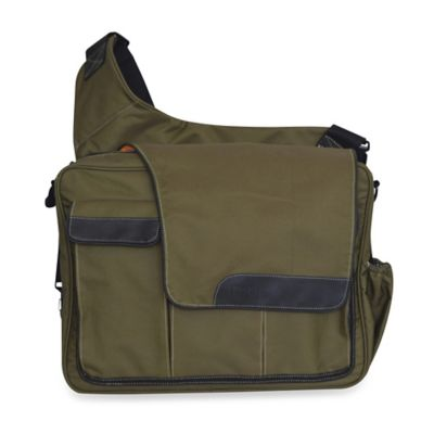 Diaper Dude® Messenger II Diaper Bag in Olive