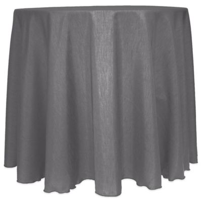 Charcoal Round Tablecloth