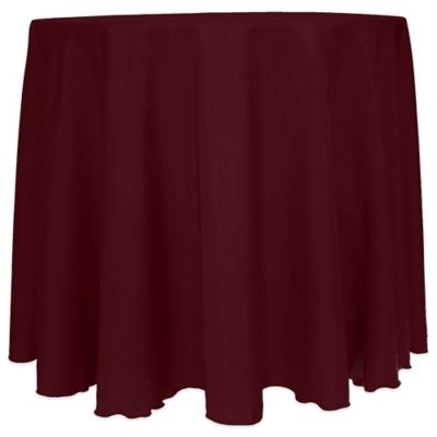 Burgundy Round Tablecloth