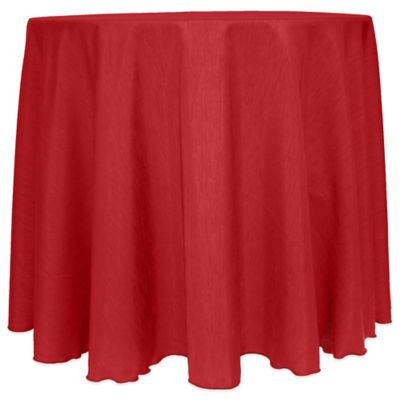 Majestic Satin Finished 90-Inch Round Tablecloth in Holiday Red
