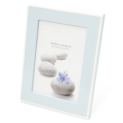 Swing Design™ Elle Lacquer 5-Inch x 7-Inch Frame in Arctic Blue