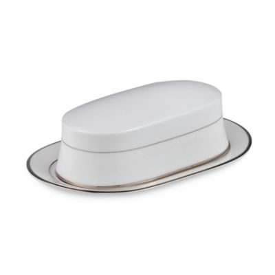 Mikasa® Cameo Platinum Covered Butter Dish