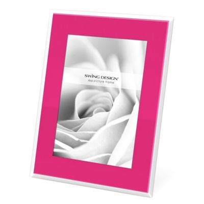 Swing Design™ Mia 4-Inch x 6-Inch Frame in Pink with White Border