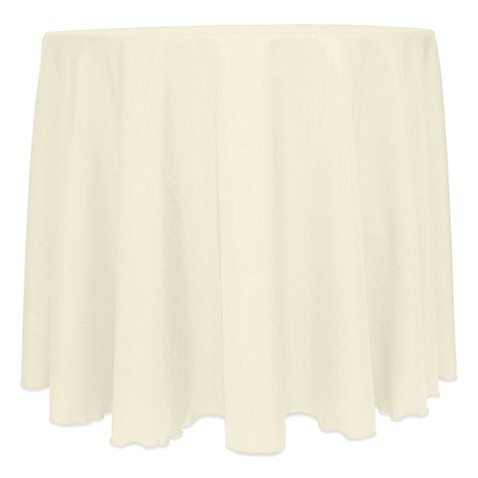 Majestic satin finished round tablecloth for 108 inch dining table