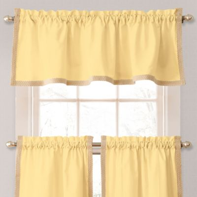 Seaview Window Curtain Valance in Yellow