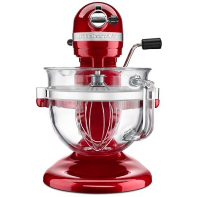 KitchenAid® Pro 600 Stand Mixer with 6-Quart Glass Bowl in Red