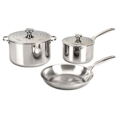 Le Creuset® Tri-Ply Stainless Steel 5-Piece Cookware Set