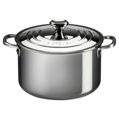 Le Creuset® 11-Quart Tri-Ply Stainless Steel Covered Stockpot