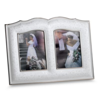 Lenox® Wedding Promises® Opal Innocence™ Double 5-Inch x 7-Inch China Frame