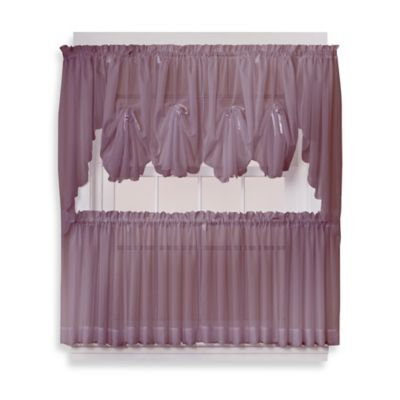 Emelia 38-Inch Window Curtain Swag Pair in Amethyst