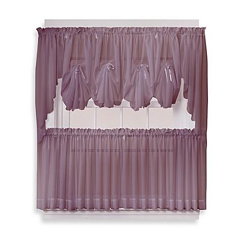 Buy Emelia 36 Inch Sheer Window Curtain Tier Pair In Amethyst From Bed Bath Beyond