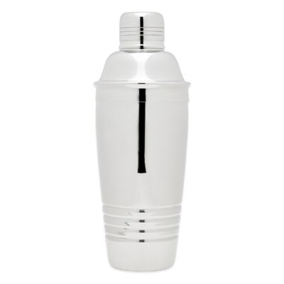 Top Shelf Silver Stainless Steel Double Wall Cocktail Shaker