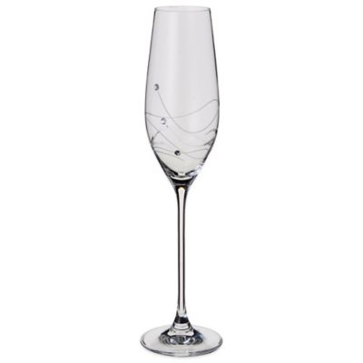 Dartington Crystal Glitz Crystal Toasting Flutes with Swarovski® Elements (Set of 2)