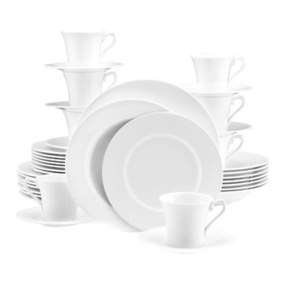 Mikasa® Satin White 40-Piece Dinnerware Set