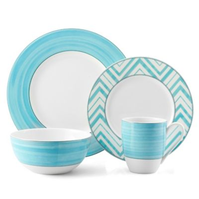 Mikasa® Cadence 4-Piece Place Setting in Teal