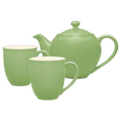 Noritake® Colorwave 3-Piece Tea-for-2 Set in Apple