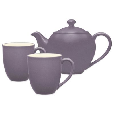 Noritake® Colorwave 3-Piece Tea-for-2 Set in Plum