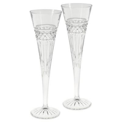 Oleg Cassini 7 oz. Lucy Toasting Flutes (Set of 2)