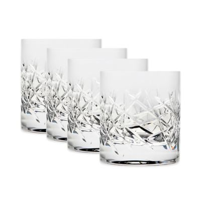 Top Shelf Graffiti 10 oz. Double Old Fashioned Glasses (Set of 4)