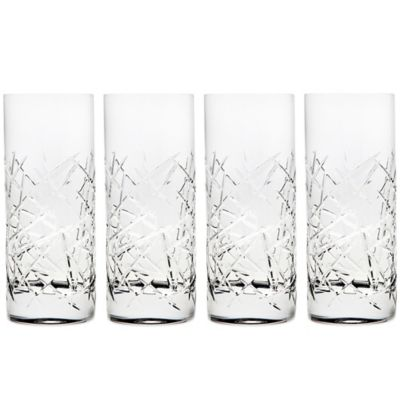 Top Shelf Graffiti 12 oz. Highball Glasses (Set of 4)
