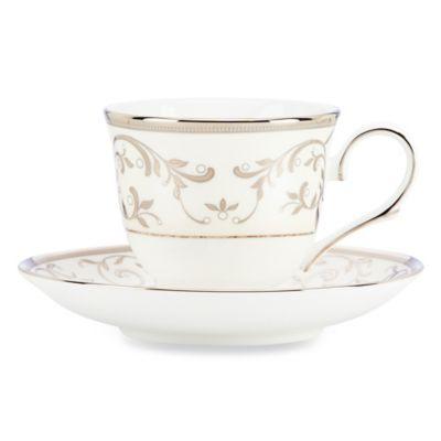 Lenox® Opal Innocence™ Silver Teacup and Saucer